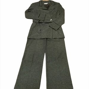 Designer Pant Suit - High Waisted Wide Leg